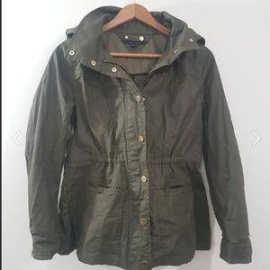 EUC Tommy Hilfiger Dark Olive Green Jacket